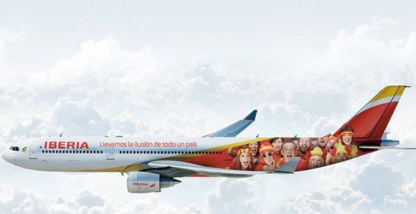 Iberia A330-300 EC-LYF (14-FIFA World Cup)(Flt)(Iberia)(LRW)