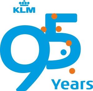 KLM 95 Years logo