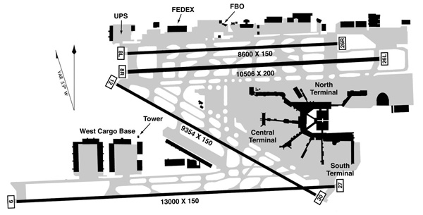 MIA FAA Airport Diagram (LRW)