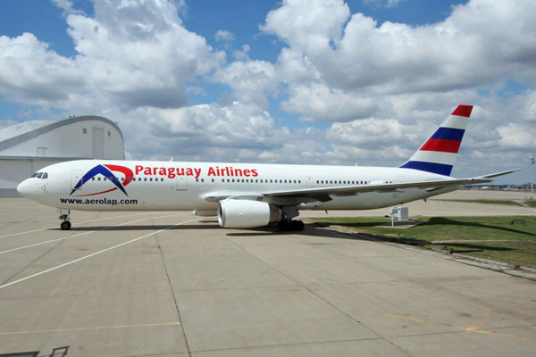 Paraguay Airlines 767-300 N254MY (14)(Grd)(AeroLap)(LRW)