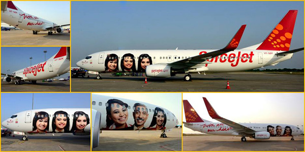 SpiceJet 737-800 WL VT-SZK (14-With All Our Heart)(Group Photos)(SpiceJet)(LRW)