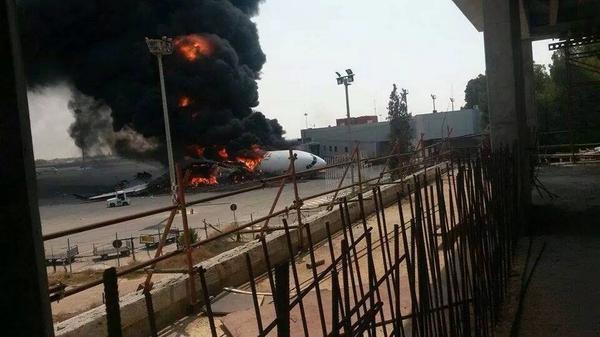 Afriqiyah A330-200 Fire Tripoli (Grd-1)(Mohanid Elghadi)(LR)