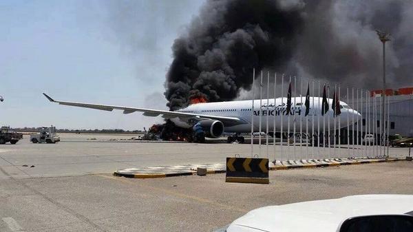 Afriqiyah A330-200 Fire Tripoli (Grd)(Mohanid Elghadi)(LR)