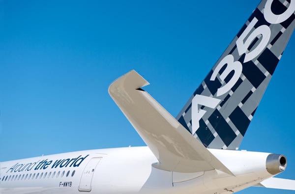 Airbus A350-900 F-WWYB (Around the World)(Tail)(Airbus)(LRW)