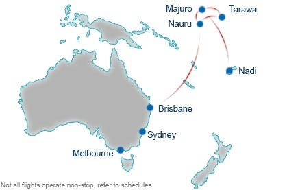 Our Airline 7.2014 Route Map