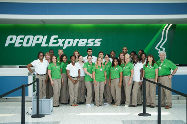 PEOPLExpress (Vision Airlines) Ticket Counter and Staff (LRW)