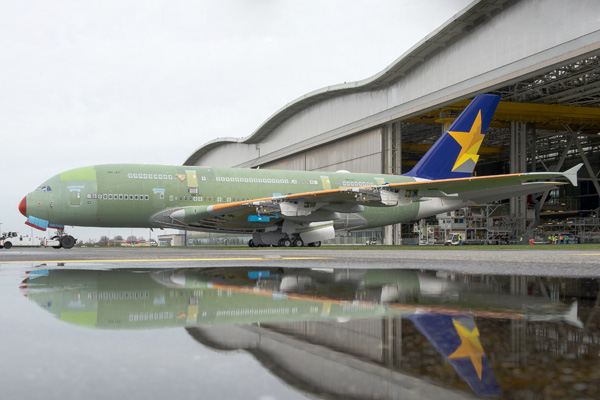 A380 MSN162 SKYMARK TRANSFER TO  STATION 30
