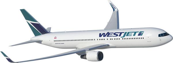 WestJet 767-300 WL (95)(Flt)(WestJet)(LRW)