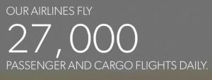 Airlines of America 27,000 Flts a Day banner