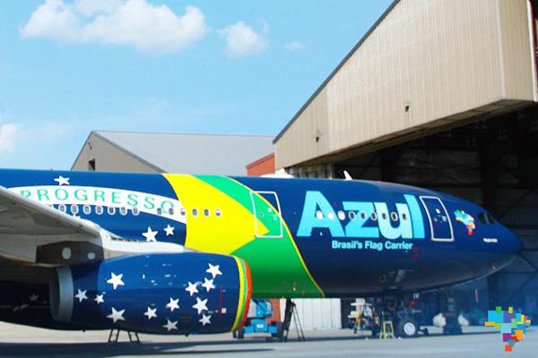 Azul A330-200 PR-AIV (14-Brazilian flag)(Nose)(Azul)(LR)