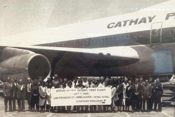 Cathay Pacific SFO Inaugural 7.1.86