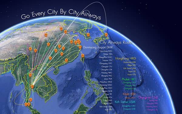 City Airways 8.2014 Route Map (LRW)