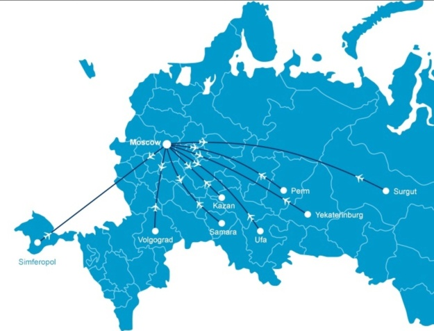 Dobrolet (2nd) 8.2014 Route Map