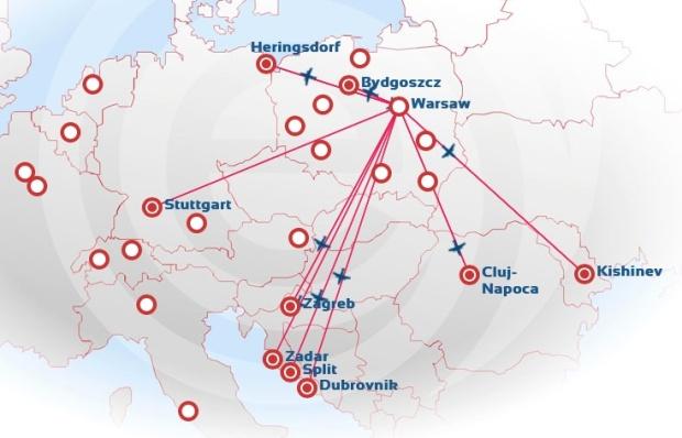 EuroLOT 8.2014 WAW Route Map