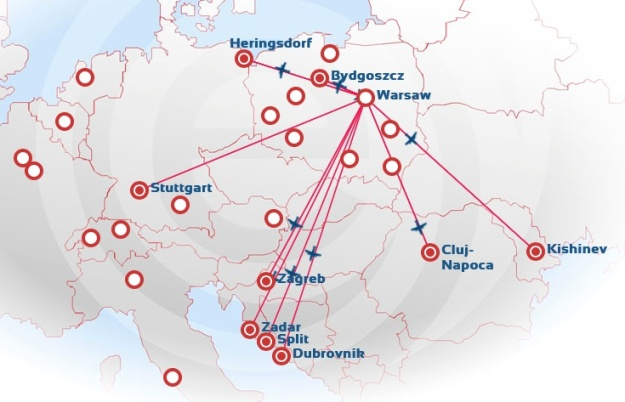 EuroLOT 8.2014 WAW Route Map