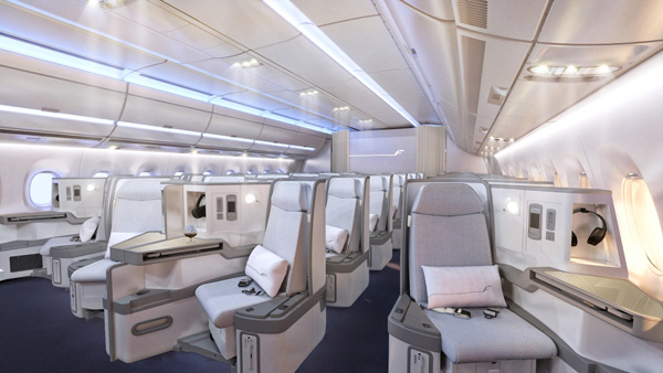 Finnair A350 Business Class Cabin (Finnair)(LRW)