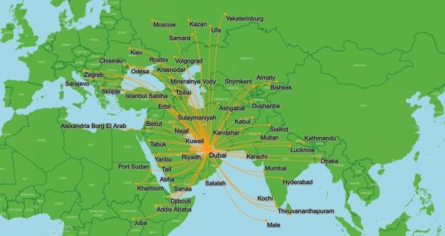 Flydubai 8.2014 Route Map
