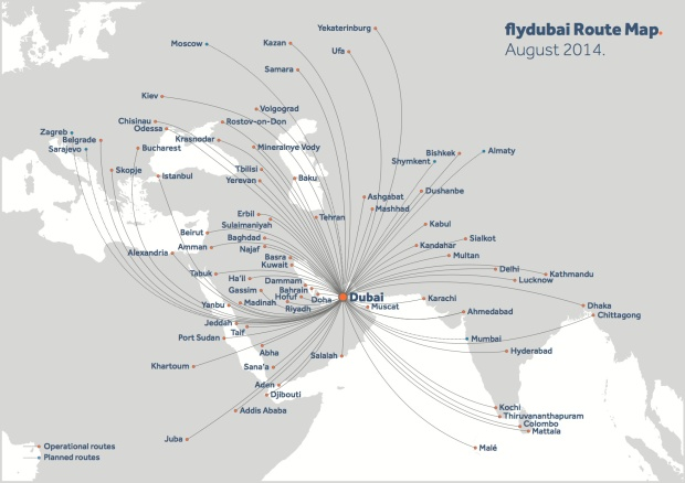 Flydubai 8.2014 Route Map