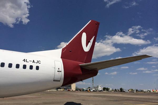 Flyvista 737-300 4L-AJC (14)(Tail)(Flyvista)(LRW)