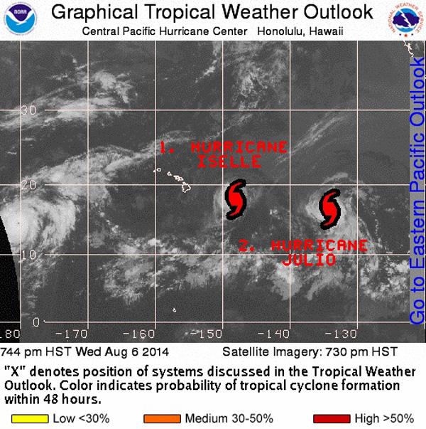 Hawaii Hurricanes map