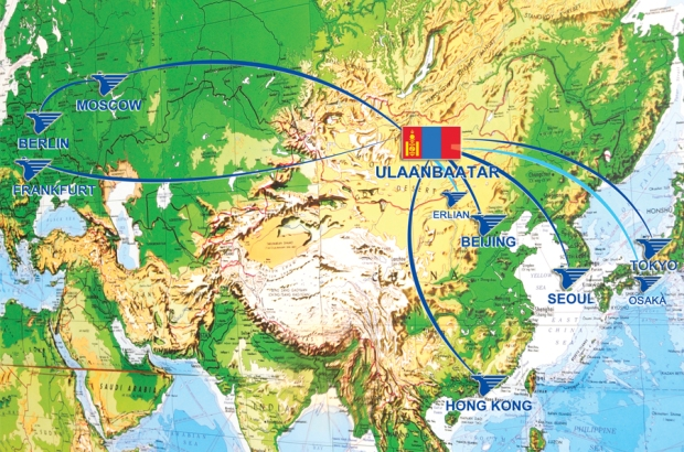 Mongolian 8.2014 Route Map