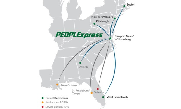 PEOPLExpress (2nd) 8.2014 Route Map