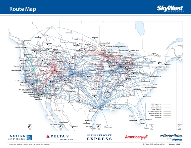 SkyWest 8.2014 Route Map