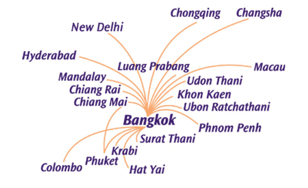 Thai Smile 8.2014 Route Map (LRW)
