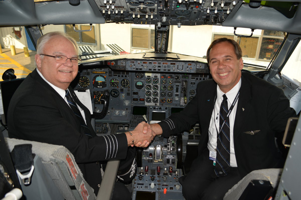 US Airways 737-400 Captain Jeff Tarr and F-O Robert Channell (JS)(LRW)