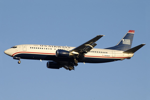 US Airways 737-400 N406US (05)(Apr) CLT (JS)(LRW)