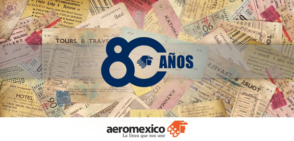 AeroMexico 80 Anos Banner (LRW)