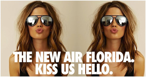 Air Florida Kiss Us Hello