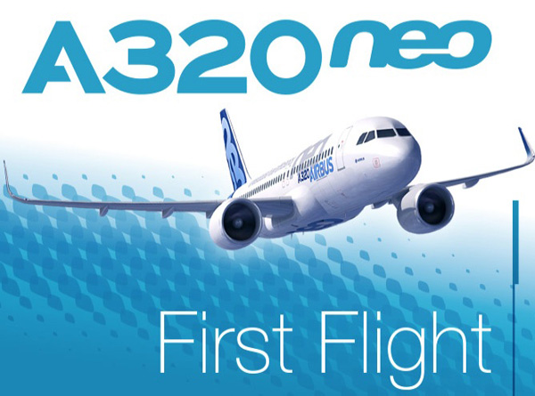 Airbus A320neo First Flight