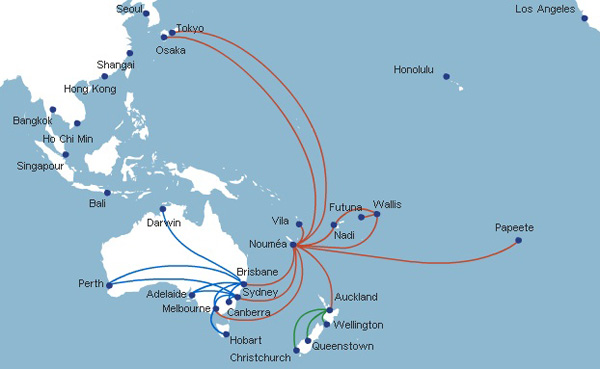 Aircalin 9.2014 route map
