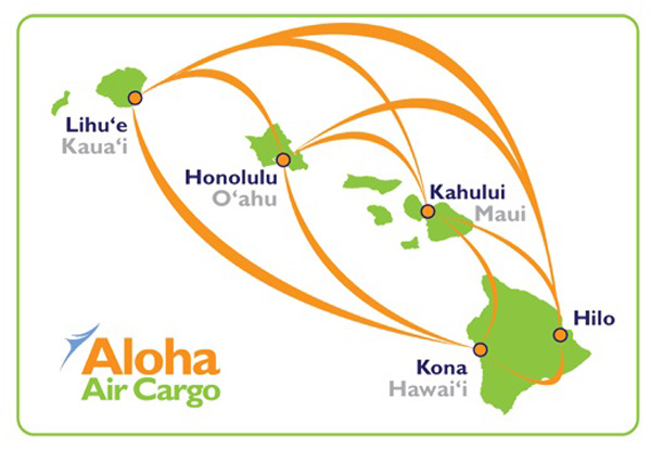 Aloha Air Cargo 9.2014 route map