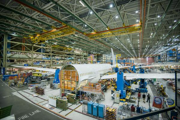 American first 787-8 final assembly (American)(LR)