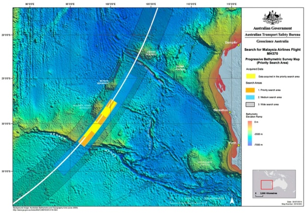 ATSB 9.2014 Search Area