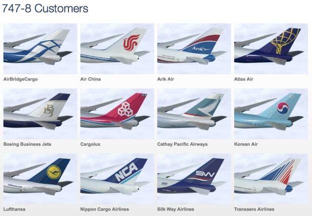 Boeing 747-800 Customers