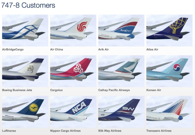 Boeing 747-800 Customers