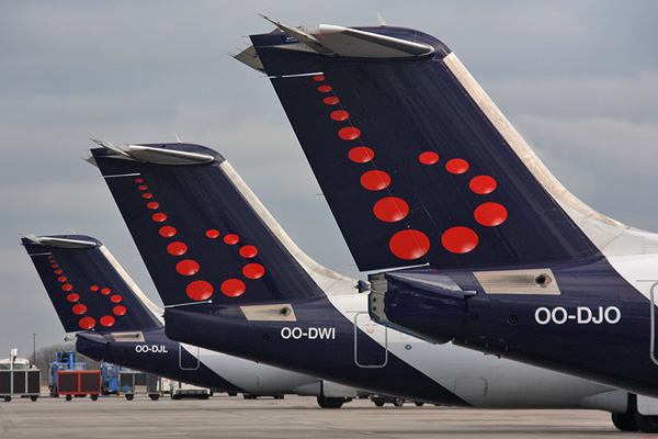 Brussels Airlines tails (Brussels)(LRW)