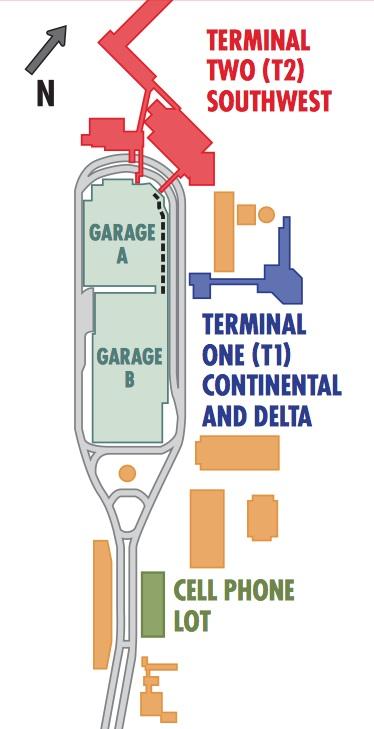 DAL Terminal Map
