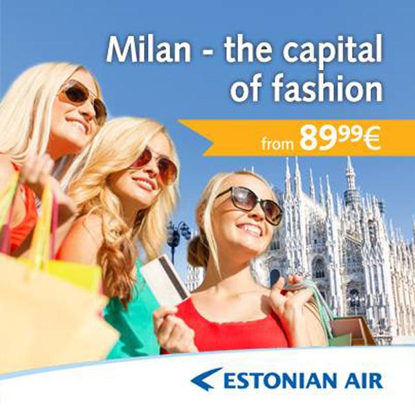 Estonian Air Milan ad