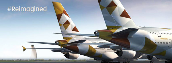 Etihad Airways new livery banner