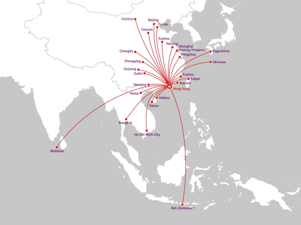 Hong Kong Airlines 9.2014 Route Map