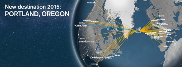 Icelandair PDX 9.2015 Route Map