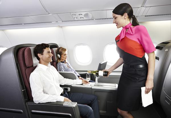 QANTAS A380 Business Class cabin (QANTAS)(LRW)