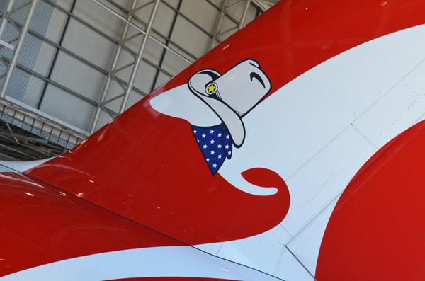 QANTAS A380 Texas hat tail (QANTAS)(LRW)