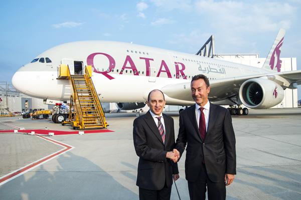 Qatar A380-800 A7-APA (06) Delivery Ceremony (Airbus)(LRW)