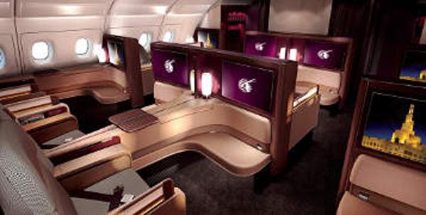 Qatar A380-800 First Class Cabin (Qatar)(LR)