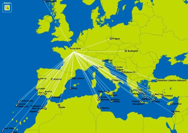 Transavia France 9.2014 Route Map